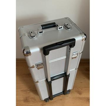 Kuferek kosmetyczny na kółkach, walizka przenośna