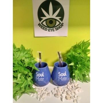 Tykwa Ceramiczna Verde Mate  z logo Soul Mate nieb