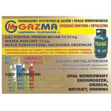 Gaz propan-butan, propan, gazy techniczne
