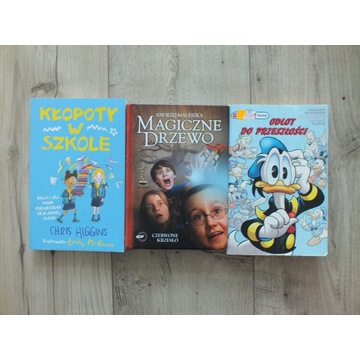 Książki dla dzieci  8-12 lat 3szt