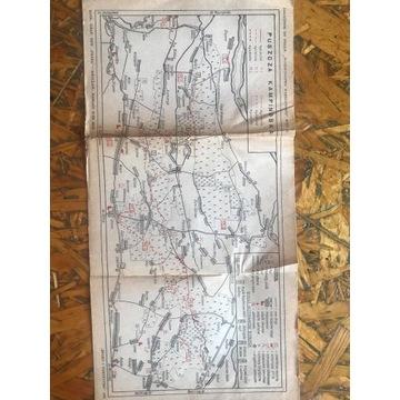 Mapa Puszczy Kampinoskiej r. 1965