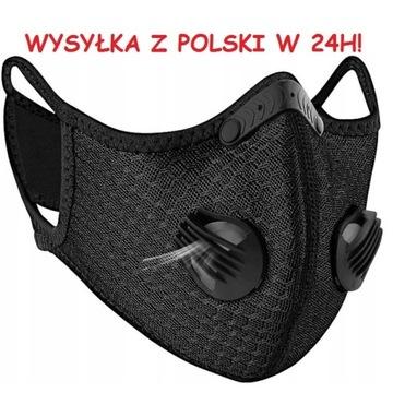 MASKA ANTYSMOGOWA FILTR HEPA N99 WYS. 24H Z POLSKI