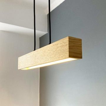 Lampa drewniana led BELKA40-wisząca