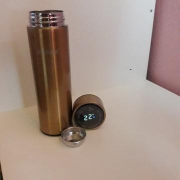 Kubek termiczny z ekranem lcd.ZILNER  złoty