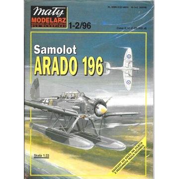 Mały Modelarz 1-2 1996 ARADO 196 model 1:33 orygin