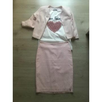 Zestaw spódnica żakiet quisque 36 bluzka mohito L