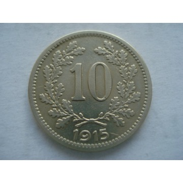 Austria 10 halerzy 1915