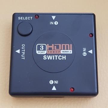 Switch HDMI 3-port 1080p, pilot, wawa, bdb