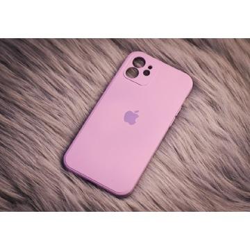 Etui do iPhone 12 Grass Purple z mikrofibrą