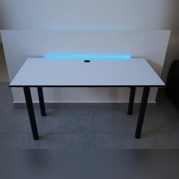 Nowe Biurko Gamingowe LED Dla Gracza Białe Tanie