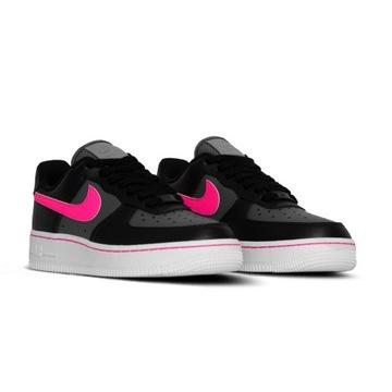 Air Force 1 Low Black Pink Swoosh rozmiar 36