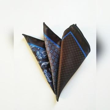 Czarna poszetka cztery wzory