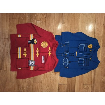 Zestaw bluzek Strażak Policjant C&A s. Ideal r. 98