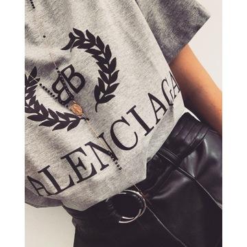 T-shirt Balenciaga M Szara