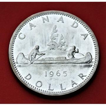 1 Dolar 1965 r. -  Indianie  canoe  srebro