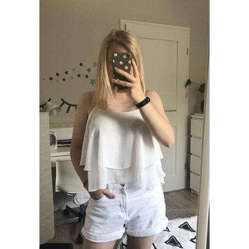 Biały croptop