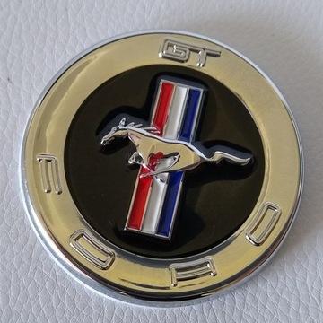 Emblemat Ford Mustang GT Srebrny 60mm Metalowy