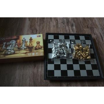 Zestaw do gry w szachy, magnetyczne, złoto-srebrne