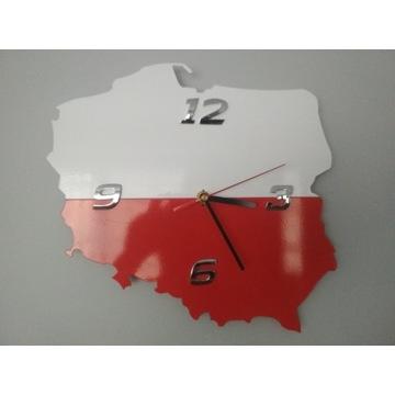 Zegar Polska 28x28 cm