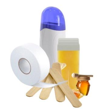 Zestaw do depilacji/ podgrzewacz/ wosk i inne