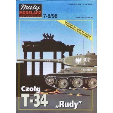 Mały Modelarz 1996 96 Czołg T-34 Rudy