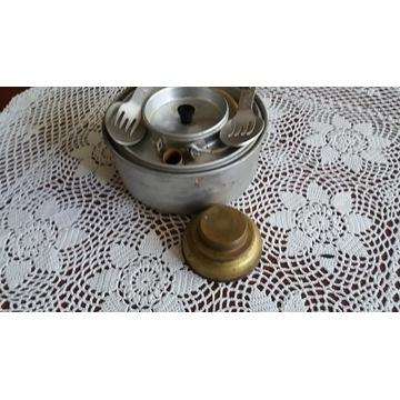 Zestaw garnków turystycznych+czajnik i kuchenka