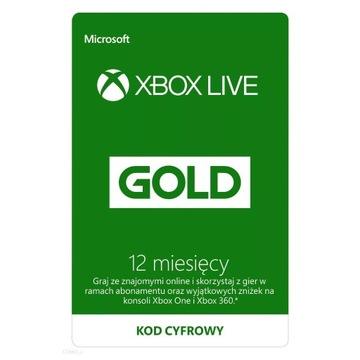 Xbox Live Gold 12 Miesięce - KOD/KLUCZ