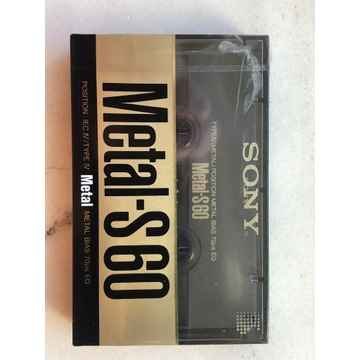 kaseta Sony Metal-S 60 NOWA, folia