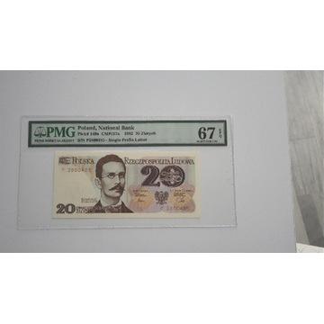 20 złotych 1982 PMG 67 EPQ