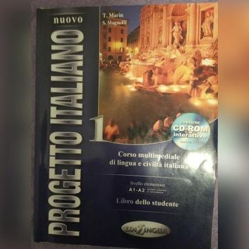 Nuovo PROGETTO ITALIANO 1 Podręcznik + CD-ROM