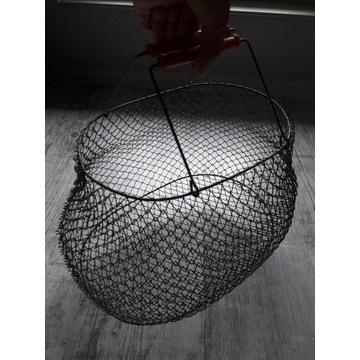 Koszyk kosz metalowy druciany składany