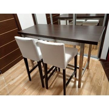 Stół barowy 140*59 cm + 2 krzesła