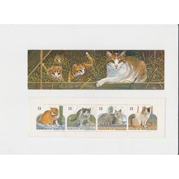 Koty,Belgia,czysty zeszycik znaczkowy