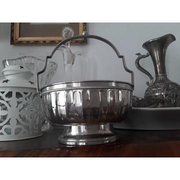 Stary pojemnik srebrny,  ozdoba do biżuterii