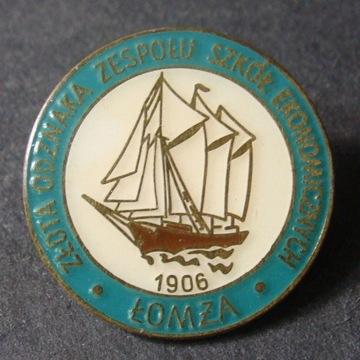 Złota Odznaka Zespołu Szkół Ekonomicznych. Łomża