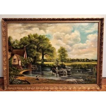 K.SHAW - Pejzaż - 107,5 cm x  78,5 cm. Olej/płótno
