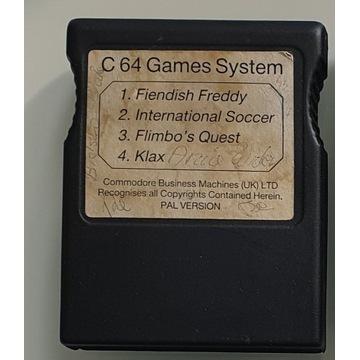 Kartridż C64 Klax Flimbo's Quest Int'l Soccer