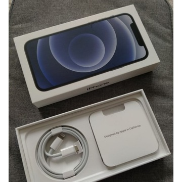 Idealny iPhone 12 64 GB black na gwarancji