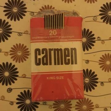 Stare papierosy Carmen, lata PRL