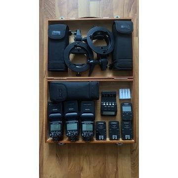 Zestaw lamp reporterskich Nikon plus dodatki