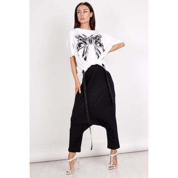 Miss city official czarne spodnie szarawary r. M