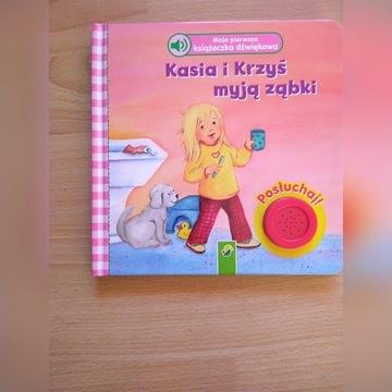 Książka dźwiękowa Kasia i Krzyś myją ząbki