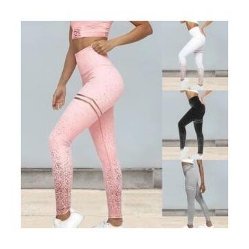 błyszczące legginsy sportowe/joga/trening S/M
