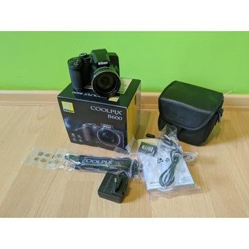 Aparat Nikon Coolpix B600 nowy okazja SUPER ZOOM o