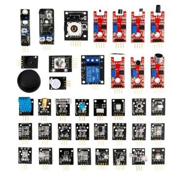 Zestaw 37 czujników/modułów arduino, Raspberry