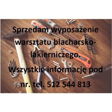 Wyposażenie warsztatu blacharsko-lakierniczego