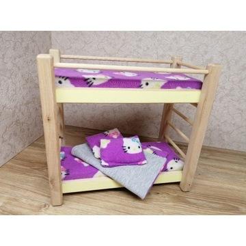 łóżko piętrowe dla lalek mebelki drewniane