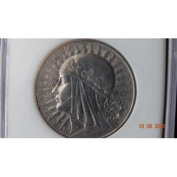 10 zł Głowa kobiety 1932 r. MS 68. W slabie.