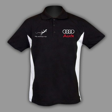 AUDI QUATTRO KOSZULKA T-Shirt Polo Haft z EU S-6XL