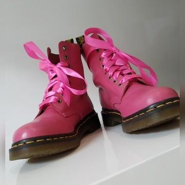 Orginalne buty Dr Martens landrynkowe śliczne 36